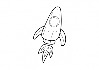 Minimal rocket space astronaut tattoo vector t shirt printing design buy t shirt design