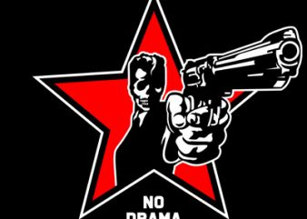 NO DRAMA buy t shirt design