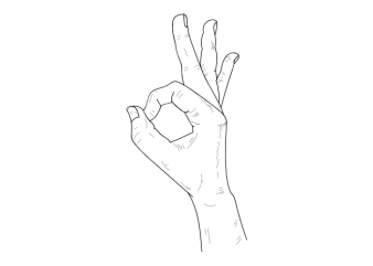 Okay modern fancy hand symbol minimal tattoo vector t shirt design buy t shirt design