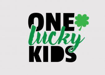 One Lucky Kids t shirt design online