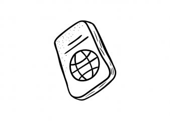 Passport pass travel symbol traveler traveller vector graphic t shirt design