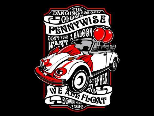 Pennywise buy t shirt design