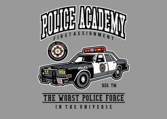 Police Academy t shirt illustration