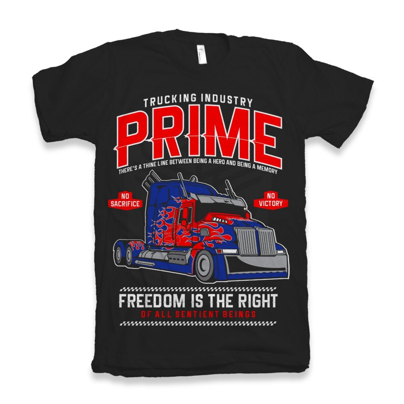 Prime Truck buy t shirt design