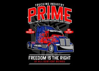 Prime Truck t shirt illustration