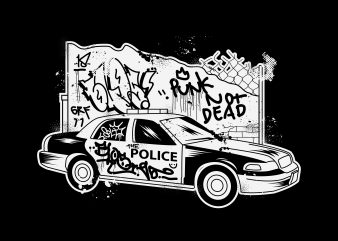 Punk not Police vector t-shirt design