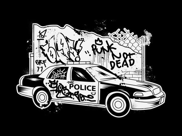 Punk not Police vector t-shirt design