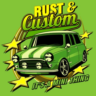 RUST AND CUSTOM buy t shirt design