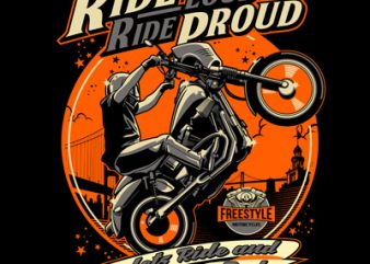 RIDE PROUD buy t shirt design