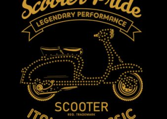 SCOOTER PRIDE t shirt template vector