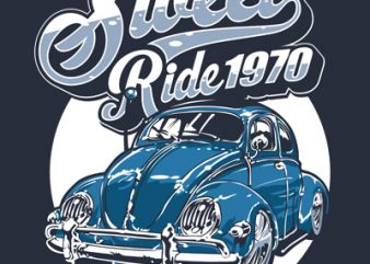 SWEET RIDE t shirt template vector