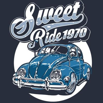 SWEET RIDE t shirt template vector