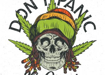Don't panic it's organic. Vector T-Shirt Design