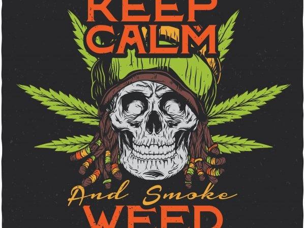 Keep calm. Vector T-Shirt Design