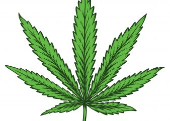 Cannabis leaf. Vector T-Shirt Design