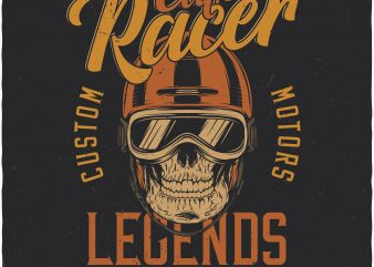 Cafe racer. Vector T-Shirt Design