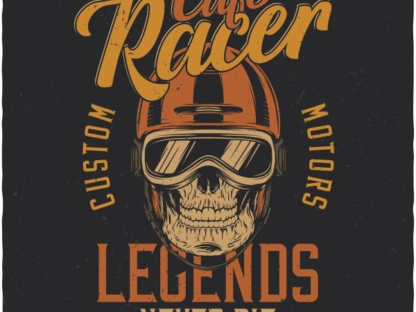 Cafe racer. Vector T-Shirt Design