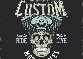 American custom. Vector T-Shirt Design