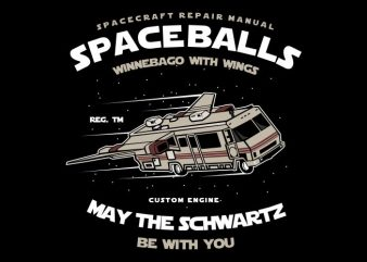 Space Balls t shirt template vector