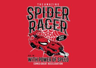 Spider Racer t shirt template vector