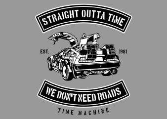 Straight Outta Time buy t shirt design