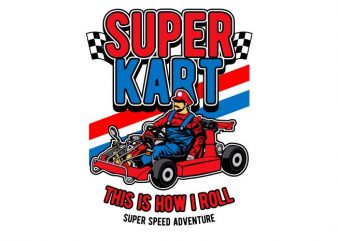 Super Kart buy t shirt design