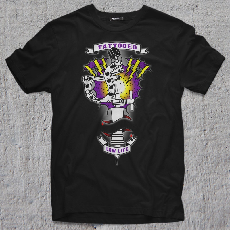 TATTOOED buy t shirt design