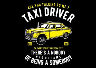 Taxi Driver t shirt designs for sale