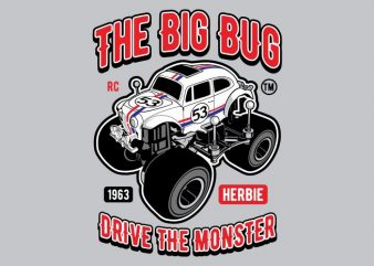 The Big Bug t shirt designs for sale