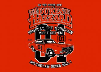 The Dukes Of Hazzard t shirt designs for sale