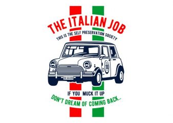 The Italian Job buy t shirt design