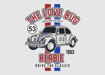 The Love Bug t shirt designs for sale