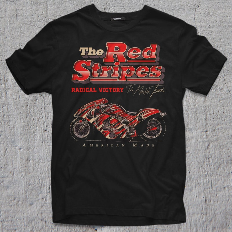 THE RED STRIPES buy t shirt design