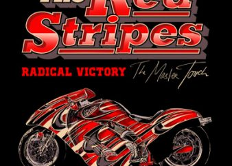 THE RED STRIPES t shirt designs for sale