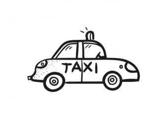 Travel taxi car means of transport child children vector t shirt printing design buy t shirt design