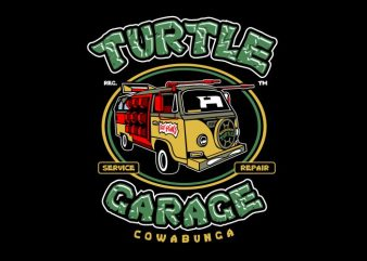 Turtle Garage buy t shirt design