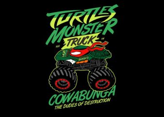 Turtles Monster buy t shirt design