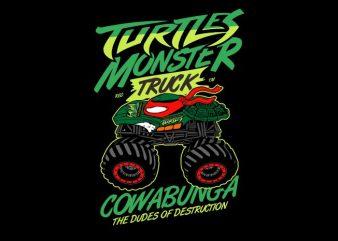 Turtles Monster t shirt designs for sale