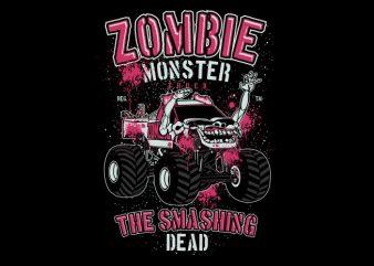 Zombie Monster Truck buy t shirt design