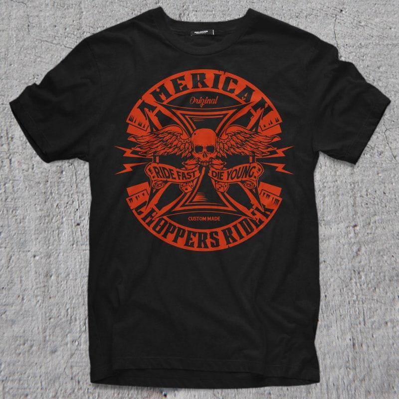AMERICAN CHOPPER buy t shirt design
