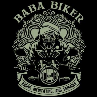 BABA BIKER t shirt template