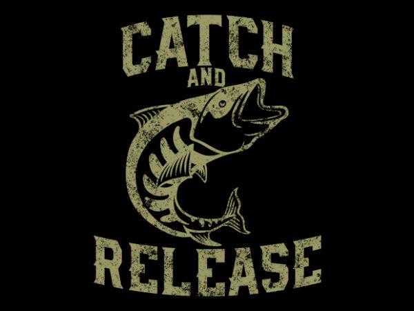fish release Vector t-shirt design
