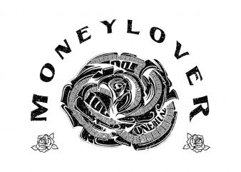 Money Lover Vector t-shirt design buy t shirt design