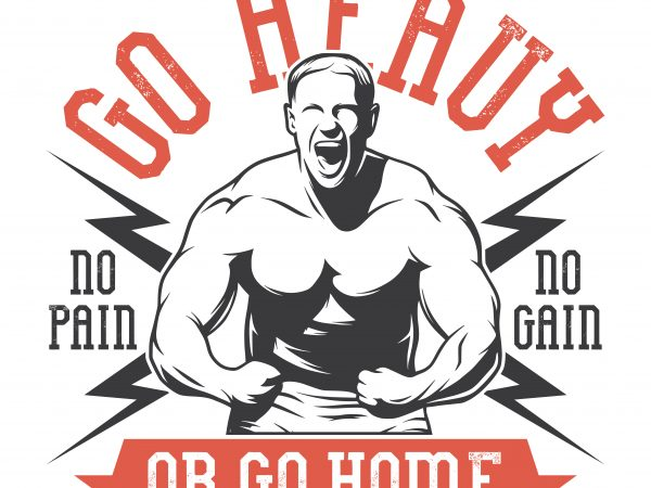 Go heavy or go home. Vector T-Shirt Design