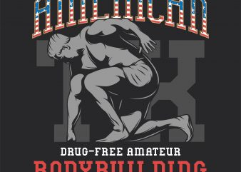 American bodybuilding championship. Vector T-Shirt Design buy t shirt design