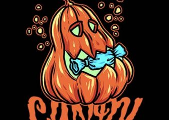 candy pumpkin tshirt design