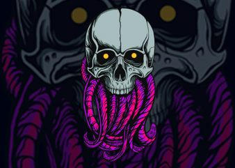 TENTACKEL SKULL T-SHIRT DESIGN buy t shirt design