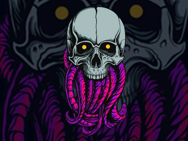 TENTACKEL SKULL T-SHIRT DESIGN