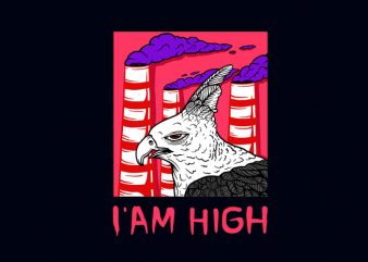 I'AM HIGH T-SHIRT DESIGN