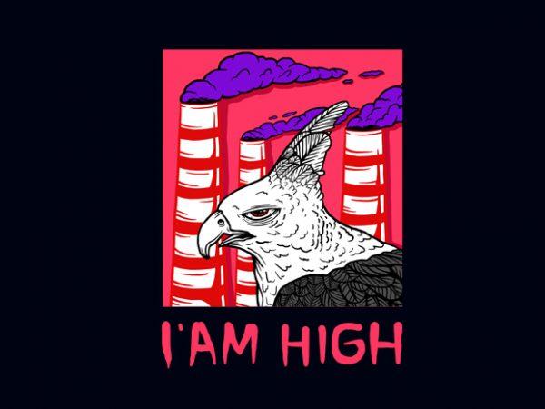 I'AM HIGH T-SHIRT DESIGN